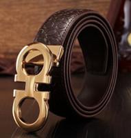 Wholesale Mens Designer Genuine Leather Belts - original designer Big buckle belts Men luxury Buckle belt top fashion mens Genuine leather belts free shipping asdy