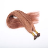 Wholesale European Hair Extensions I Tip - high grade Brazilian remy hair The European and American fashion festival hair extensions I tip hair multi colors 16-26inch free shipping