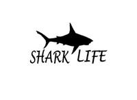 Wholesale New Car Shark - Wholesale New Shark Life Sticker For Car Window Truck Bumper Door Kayak motorcycles Vinyl Decal sea 9 Colors Great White Hammerhead Tiger