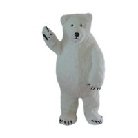 Wholesale White Bear Mascot Costume - White Polar Bear Mascot Costumes Cartoon Character Adult Sz 100% Real Picture 001
