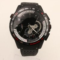Wholesale Grand Calibre 36 Tags - Luxury Men Automatic Watch Grand Calibre RS 36 Tag Mens Watches Mechanical Glass Transparent Back Rubber Strap