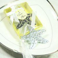 ingrosso regali di tema della spiaggia-Favore di nozze del segnalibro di stelle marine dell'argento dell'acciaio inossidabile di tema della spiaggia di Sandy favorisce il regalo della doccia di bambino + DHL libera il trasporto
