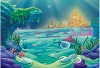 Wholesale Vinyl Sea Backdrop - 7x5FT Under Sea Bed Little Mermaid Ariel Princess Castle Corals Custom Photo Studio Background Backdrop Banner Vinyl 220cm x 150cm