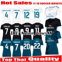 Wholesale Girls Spandex Shirts - Women 2017 2018 Real Madrid soccer Jersey 17 18 RONALDO lady girl SERGIO RAMOS JAMES BALE RAMOS ISCO MODRIC Benzema ASENSIO football shirts