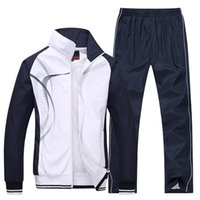 China Größe L bis 4XL Breathable Sportswear Herren Jacken Set Zipper Coat + Hose Tracksuits Set Herren # 160175