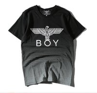 Wholesale Polka Dots Europe - off white summer Mens T-Shirts BOY Eagle Polka Dot black and white Mens fashion Summer new Europe and America tide brand BOY