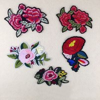 Wholesale China Dance Clothes - Flower Patches for Clothing Parches para la ropa Rose Flower Patches Sticker for Clothing tiger animal Sewing embroidery Patches