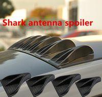 Wholesale Black Shark Fin - 8pcs Piece Carbon Fiber Look Universal Vortex Generators Roof Shark Fins Spoiler Wing Kit (Set of 8) Black for Car Truck SUV