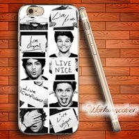 Wholesale Case For Iphone One Direction - Fundas One Direction Sign Soft Clear TPU Case for iPhone 6 6S 7 Plus 5S SE 5 5C 4S 4 Case Silicone Cover.