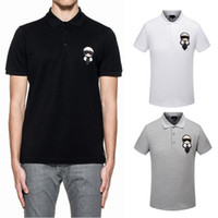 Wholesale Casual Sleeved Black For Men - Polo Shirt Mens 2017 Hot Sale Brand Tops For Man Short Sleeved Cotton Embroidery Patches Casual+Fashion Turn Neck Polo