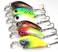 Wholesale Soft Minnow Lure - 1Pcs Japan Mini Crank bait 4cm 4.2g hard Bait Minnow Fishing Lure 6# fishhooks Fishing Tackle Artificial floating Bait ZB209