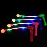 Wholesale led star wands for sale - Group buy Leading Star Colorful Flashing LED Sticks Lights Kids Glowing Music Wand Toy Cheering Glow Stick for Festival Party YH1012