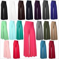 Wholesale Ladies Velvet Flats - Wide Leg Pants Women Casual Slim Flare Pants Palazzo Trousers Fashion Harem Pants Loose Long Bloomers Lady Casual Yoga Fitness Capris B2738