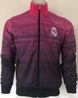 Wholesale 17 V - AAA quality 17 18 Real Madrid soccer Jerseys jacket 2017 2018 RONALDO LUCAS V MORATA JAMES BALE RAMOS ISCO MODRIC Football jackets