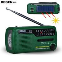 Wholesale Degen Solar Radio - DEGEN DE13 Radio FM MW SW Crank Dynamo Solar Powered World Receiver phone MP3 Good quality