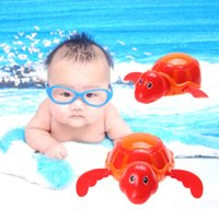 Wholesale turtle toy bath for sale - Group buy New Baby Children Plastic Bathing Toy Baby Swim Turtle Chain Clockwork Dabbling Toy Bath Toy