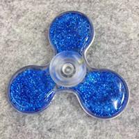 Wholesale Glitter Tips Wholesalers - Fidget Spinners Hand Spinner Liquid Glitter Bling Plastic Handspinner Decompression Fingertip Gyro EDC Tip Tops Toys 2017 New Children