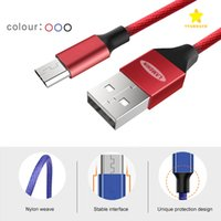 Wholesale Wholesale Packaging Nylon - Lamchin Brand Nylon Braided USB Cable Android Type C Micro USB Cable 0.6M 1.2M 1.8M for Samsung Huawei with Package