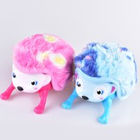 Wholesale roll eyes online - Interactive Pet Hedgehog with Multi modes Lights Sounds Sensors Light up Eyes Wiggy Nose Walk Roll Headstand Curl up Giggle Toys OTH573