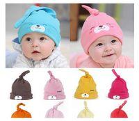 Wholesale Headwear Sweet - Sweet Baby Girls Boys Cartoon Toddlers Cotton Sleep Cap Headwear Hat 9 Colors