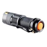 Wholesale Waterproof Uv Led Flashlight - Hot Fluorescent agent detection UV 395nm led 3 mode Zoom Flashlight waterproof torch lamp purple light For AA 14500 battery
