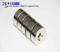 Wholesale neodymium disc magnets hole resale online - 100pcs Countersunk Hole Magnet Diameter x10 mm Thick M5 Screw Countersunk Hole Neodymium Rare Earth Permanent Magnet