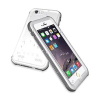 Wholesale Ip68 Case - Ultra thin PVC Waterproof Shockproof Fingerprint IP68 Diving Swimming Cover Case For iphone 6s 6 plus 5s with retail package