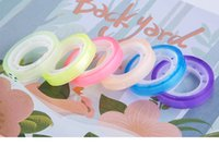 Wholesale Transparent Decorative Adhesive Tape - Wholesale- 2016 6 rolls set candy color transparent tape multicolour office adhesive tape 8mm12m Mini tape decorative sticky Free shipping