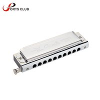C organ box - Top Quality Swan Chromatic Key of C Harmonica Holes Tones Mouth Organ Silver with Exquisite Box
