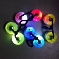 Wholesale Ball Bundle - LED Flashing Thumb Chucks Finger Balls Yo-yo Fidget Toys Glow in Dark Finger Spinner Bundle Control Roll Game Yo-yo Ball