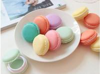 ingrosso confezione regalo macaron-Macaron Carino Candy Color Macaron Scatola di immagazzinaggio Gioielli Imballaggio Display Pill Case Organizer Decorazione della casa Regalo 4 * 2cm Carino