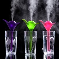 Wholesale Mini Usb Cup Air Purifier - USB Mini Air Humidifier Office Lovely Clover CUP Humidifier Portable Air Cleaning Purifier Humidifiers Aromatherapy Home Furnishing Creative