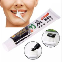 Wholesale Toothpaste Wholesalers - charcoal toothpaste whitening black tooth paste bamboo charcoal toothpaste Teeth Care Accessory oral hygiene tooth paste KKA2007
