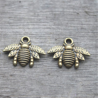 Wholesale 35pcs Bee charms Antique bronze Lovely Bee Honeybee Charm Pendant x21mm