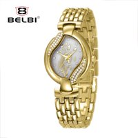 Wholesale Oval Watches For Women - BELBI Women Watches Japan Quartz Movement for Ladies Luxury Alloy Women Wristwatches Life Waterproof Watch China Brand