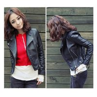 All'ingrosso-Nuovo arrivo 2017 Autum Winter Women Motorcycle Leather Jacket Slim Casual Coat