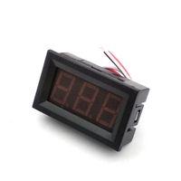 Wholesale Lcd Dc Voltmeter Panel - High Quality 0.56 Inch LCD Red   Blue   Green Light DC 0-100V Panel Meter DC Digital Voltmeter