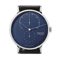 relógio de couro masculino da correia venda por atacado-Relógio de Quartzo Homens 2017 Moda Mens Relógios de Couro Strap Top Marca de Luxo Famoso Relógio de Pulso Masculino Relógio Relogio masculino