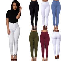Wholesale Wholesale Plus Sizes Jeans - Wholesale- 2016 Feitong Brand Jeans Women Pencil Pants High Waist Jeans Sexy Slim Elastic Skinny Pants Trousers Fit Lady Jeans Plus Size