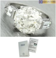 Wholesale Antique Estate - Antique Art Deco 1940s Estate 7.35ctw Diamond Platinum Engagement Ring EGL USA