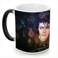 Wholesale Miss Wholesale China - Wholesale- New Michael Jackson Ceramic Coffee Mug White Color Or Color Changed Cup Miss You---Loveful