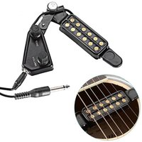 Wholesale musical instruments resale online - the new High quality guitar sound hole folk guitar pickup guitar accessories Musical Instruments