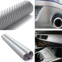 Wholesale Decal Car Wrap - 30cmx127cm 3D Carbon Fiber Vinyl Car Wrap Sheet Roll Film Car stickers and Decals Motorcycle Car Styling Accessories Automobiles