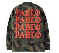 Wholesale Life Jackets Pockets - YEEZUS Camouflage Jackets Kanye West Pablo Kanye West Denim Jackets The Life Of Pablo kanye Yeezus Jeans Oversized Denim Jacket