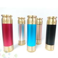 fähig mod großhandel-Verdampfer fähig Mod AV Stil Mech elektronische Zigarette Klon fit 18650 Batterie Mechanische Mod 4 Farben Messing Material Dhl-frei