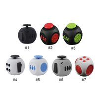 Wholesale Ball Dices - newest fidget 3rd Generation Decompression Cube Anti-anxiety Dice Stress Relief Toys for kids and adults Decompression Stress Balls 7 Colors