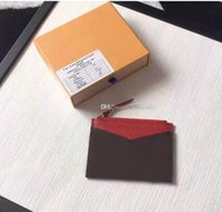 Wholesale Fashion Women Belts Bow - Top Quality fashion Brand designer card holders Genuine Leather women credit card purse wallet holders M62257