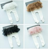 Wholesale Girls Tutu Tights - Cotton Baby Leggings Tights TuTu Skirt Leggings for Girls Korea Baby Pants Capris Children Legging for Baby Girls Dance Dress Leggings