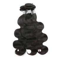 renk 32 saç örgüsü toptan satış-Brazillian Vücut Dalga Demetleri Ucuz İnsan Saç Dokuma Gerçek Yumuşak Brazillian Bakire Saç Demetleri 3 Adet / grup Doğal Renk 7A Büyük Kalite