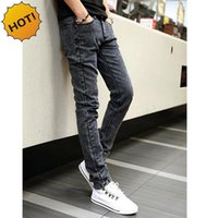 Hot Style Snow Grau Gerade Slim Fit Denim Jeans Männer Hip Hop Boy Streetwear Harem Hosen Teenager Casual Leg Stretch Hose